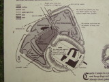 Plan of the re-modelling of Castle Camps motte and bailey and village