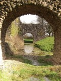 Lochmaben Castle,channel through the buttresses