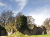 Lochmaben  Castle , interior , looking  northwest.
