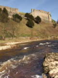 Richmond Castle,with River Swale,in foreground