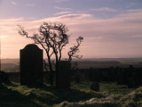 The Repentance Tower,the walled graveyard,at dawn.