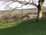 Hoddom Castle amid the trees,on the Hoddom Estate.