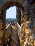 Framlingham Castle,the wall walk.