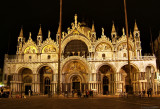 St Marks Basilica at night