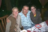 Natalie, Chris og Georgie, okkar fólk í Úganda.