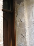 ...their mezuzah marks visible in the door frames