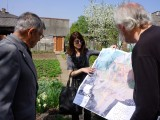 we meet Mr. Vorobets, and give him a copy of the 1846 map on behalf of RSRG
