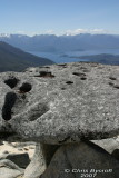 Stonehenge look-a-like with Manapouri beyond