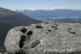 Stonehenge look-a-like with Lake Manapouri beyond