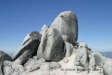 Summit granite rocks from trig