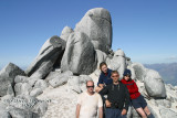 The summit - me, Fliss, Roy and Diana (left to right)