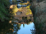 Reflection of Picketpost house in Queen Creek