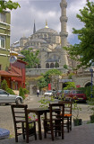 blue mosque-cafe