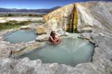 travertine hot springs, HDR image