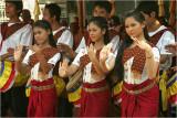 Dancers and drummers-Wat Than-Phnom Penh