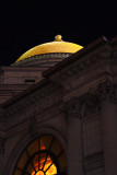 Gold Dome At Night