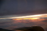 Interesting sunrise under the cloud cover