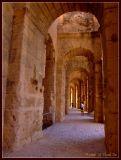 Walking in Colosseum, El-Jem