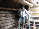Checking out trappers' cabin