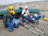 Mud camp!  Wood Bay, river delta; tidal