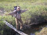 Larry's driftwood bridge