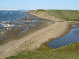 One of our great estuary camps, low tide