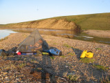Tides took ice fast, noisy-crushing, thru' narrows deep into estuary