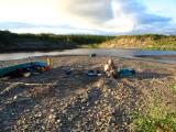 First camp in Kugaluk, still tidal