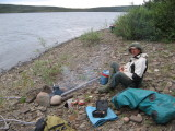 Final camp, on shore of lake