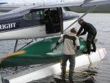 Attaching canoe to Cessna 185