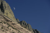 Moon in SW Oregon near Lake Albert Rim