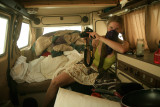 Dust Storm even in the Camper