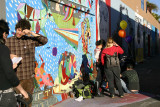 Mission muralists at work