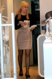wolford sales girl - just so nice !!!