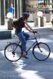 riding throug a pedestrian area is always fun :-)