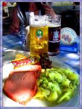 All Time Classic,- Leberkase Mit Gurken und Kartoffeln Salad !