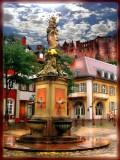 Heindelsberg's Madonna  And Red Castle, Germany