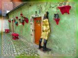Some Weird Place With Crazy Figures, Czesky Krumlov, Czechia