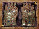 XIVCentury Archbishop's Gloves, Hofburg Treasury, Vienna