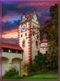 Fussen Castle At Dusk, Bavaria