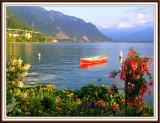 Sunset On Lake Geneva, Montreaux, Switzerland