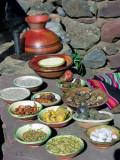 Daily Food Of Aymara Family, Sillustani