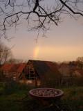 regenboog in het westen