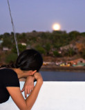 Watching the moon rise
