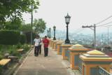 Teenagers walking in Parque La Leona.