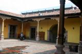 Interior courtyard of the colonial Biblioteca Nacional (National Library) in Tegucigalpa.