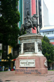 Statue in Parque Central of Francisco Morazan on horseback.  He was Honduras' hero of independence.