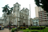 Another view of Parque Central with St. Michael's Cathedral in the background.
