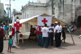 This first aid station was set up in Parque Central.