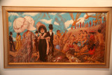 A surrealistic looking painting at the museum.